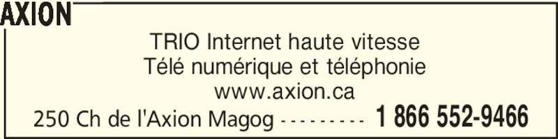 C 226 Ble Axion Magog Qc 250 Ch De L Axion Canpages Fr