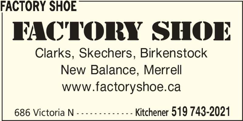 Factory Shoe 686 Victoria St N Kitchener On