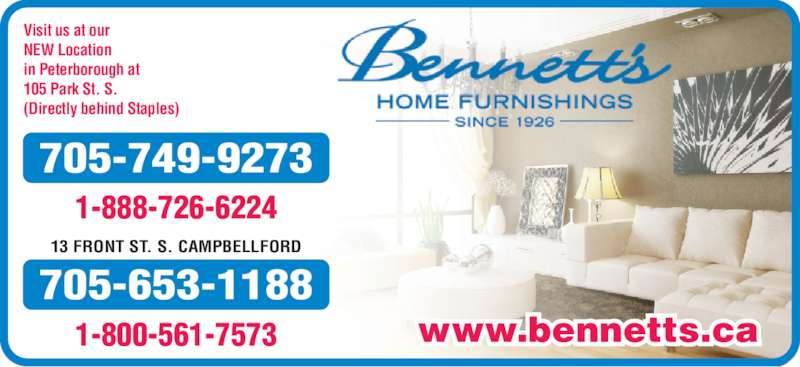 Bennetts Home Furnishings Peterborough ON 105 Park