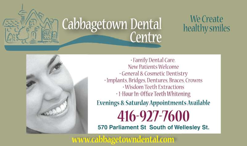Cabbagetown Dental Centre (4169277600) - Display Ad -