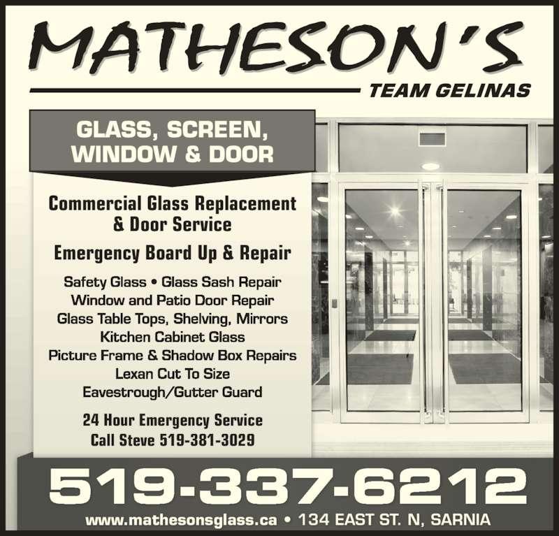 Matheson S Glass Screen Window Door Sarnia On 134