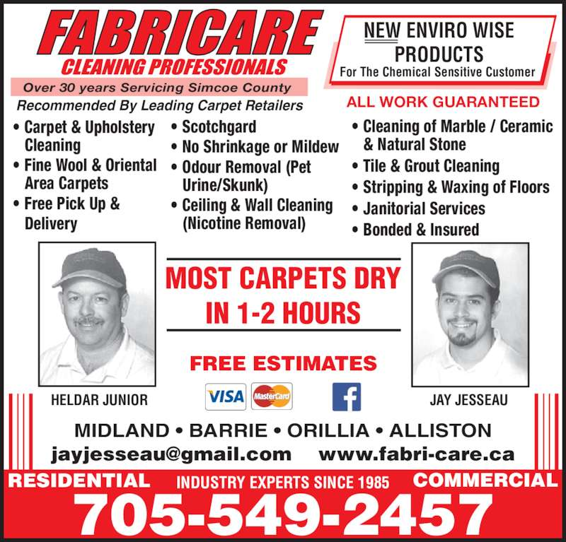 Fabricare Cleaning Professionals Midland On 525