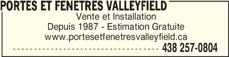 Portes et fen tres valleyfield inc salaberry de for Porte et fenetre salaberry de valleyfield