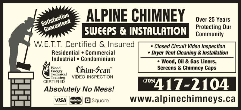 Alpine Chimney Sweeps Amp Installation Collingwood On