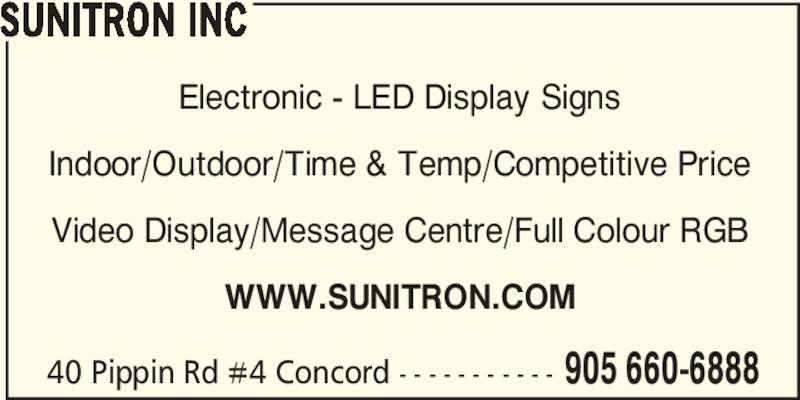 ad Sunitron Inc