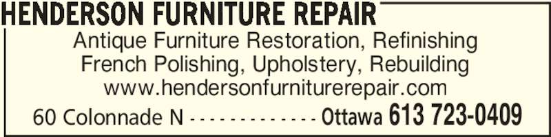 Henderson Furniture Repair Nepean On 60 Colonnade Rd Canpages