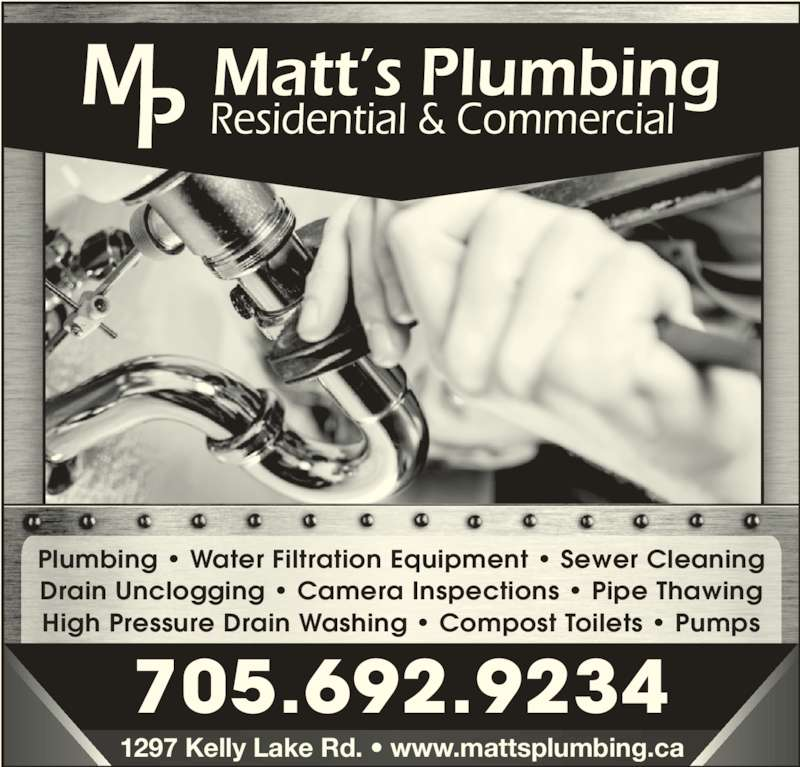 Matt S Plumbing Lively On 35 Dillons Trail Canpages