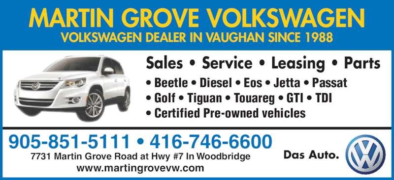 Martin Grove Volkswagen Woodbridge On 7731 Martin