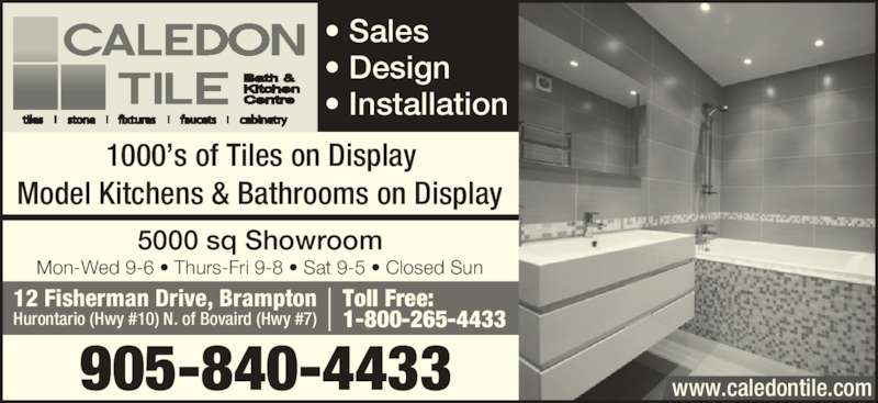 Custom Bathroom Vanities Brampton caledon tile bath & kitchen centre - brampton, on - 12 fisherman