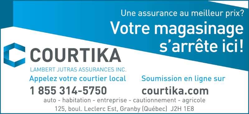 Courtika - Assurances Morin & Associés Inc (450-549-4225) - Annonce illustrée======= -
