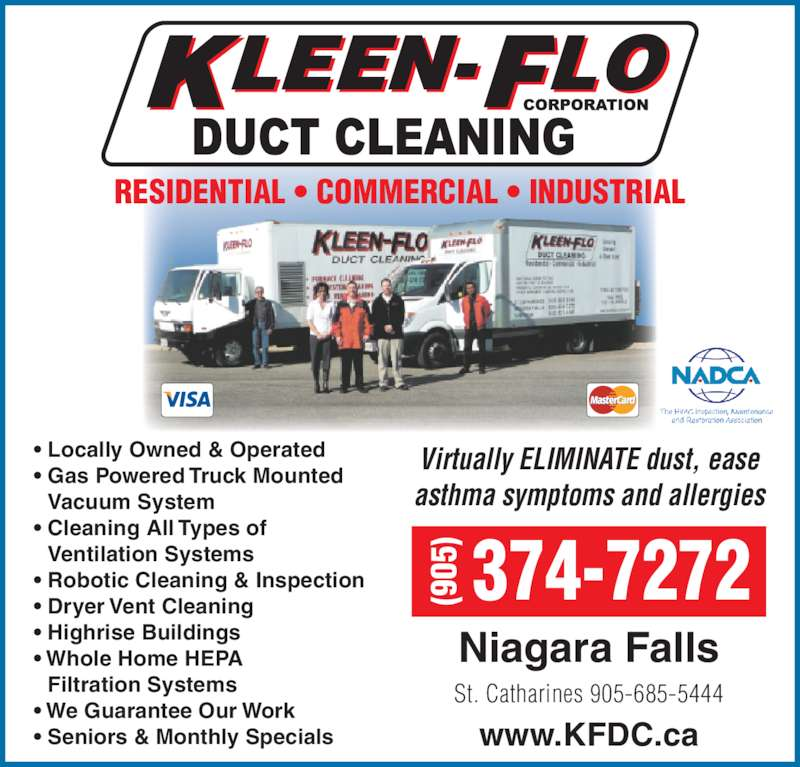 Kleen Flo Duct Cleaning Niagara Falls On 6728 Spence