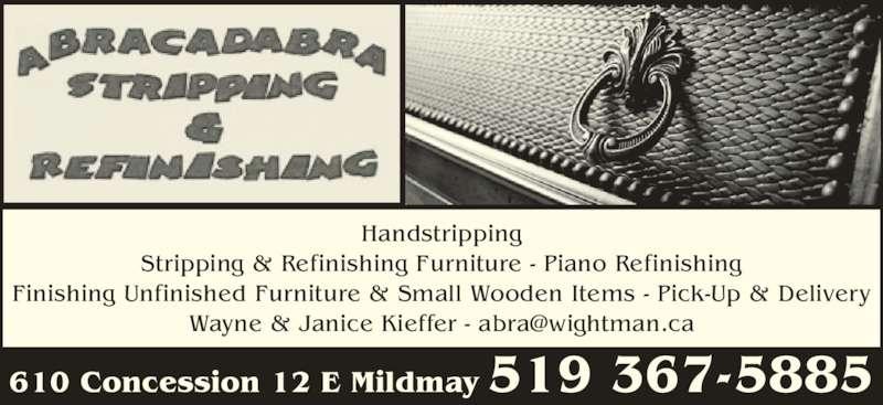 Abracadabra stripping refinishing mildmay on 610 for Abracadabra salon