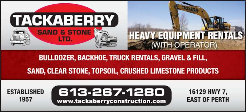 Tackaberry Sand & Stone Ltd (613-267-1280) - Annonce illustrée======= -