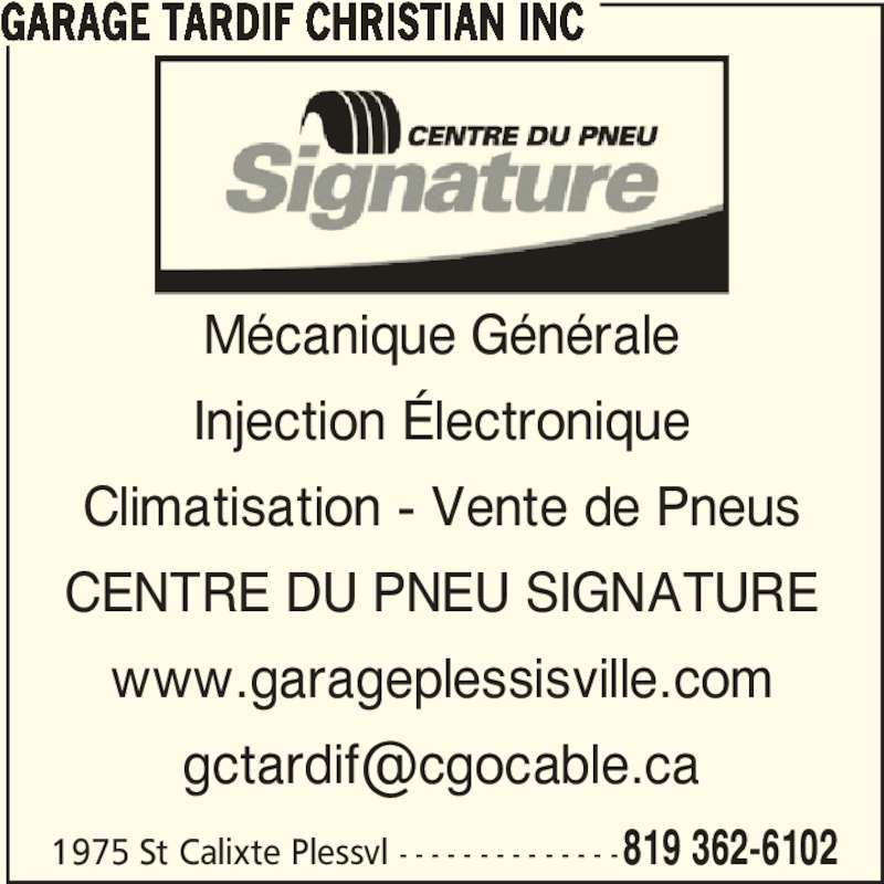Garage c tardif inc plessisville qc 1975 rue saint for Garage ad st coulomb