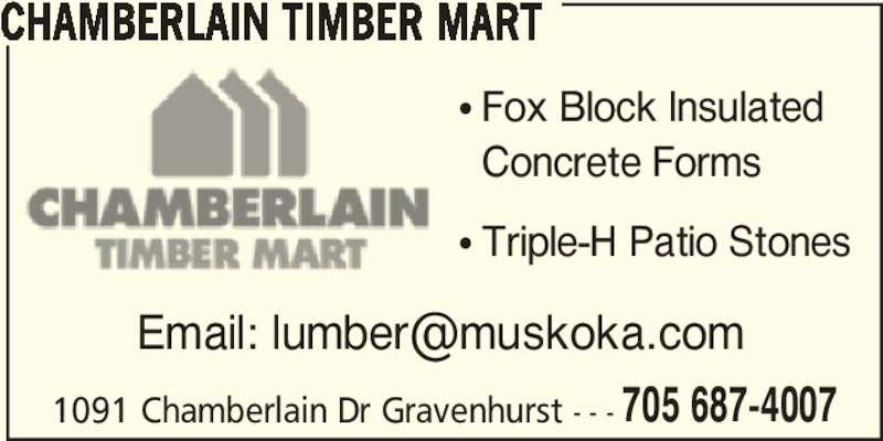 Chamberlain Timber Mart Gravenhurst On 1091