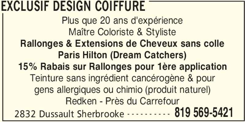 Exclusif Design Coiffure - Horaire d\'ouverture - 2832 rue Dussault ...