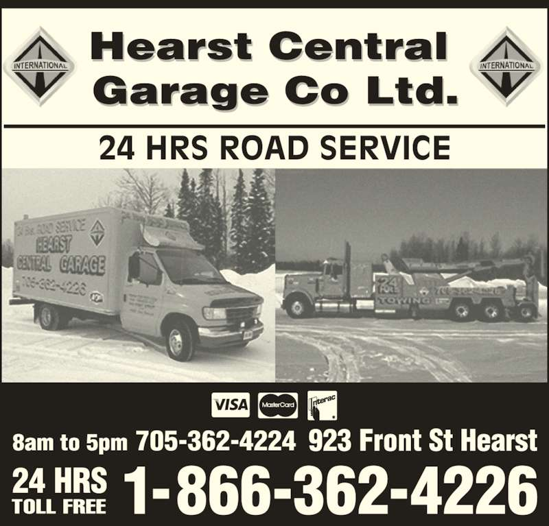 Hearst central garage co ltd hearst on 923 front st for Garage ad st coulomb