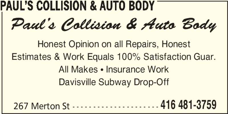 ad Paul's Collision & Auto Body