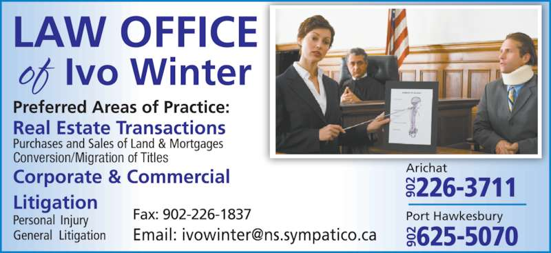 Law office of Ivo Winter  (9022263711) - Display Ad - Conversion/Migration of Titles