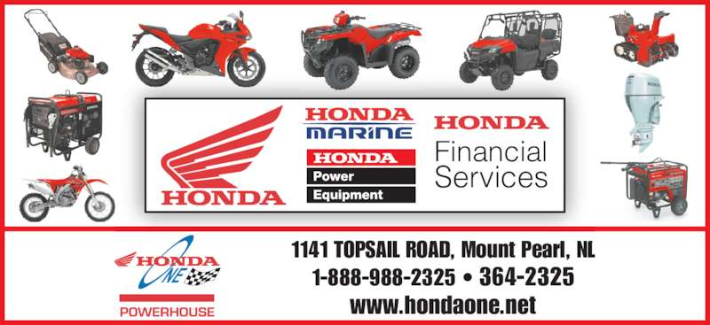 Honda one opening hours 1141 topsail rd mount pearl nl for Honda financial services hours