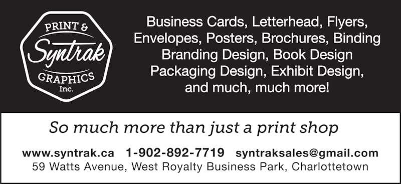 Syntrak Print & Graphic Inc (902-892-7719) - Display Ad -
