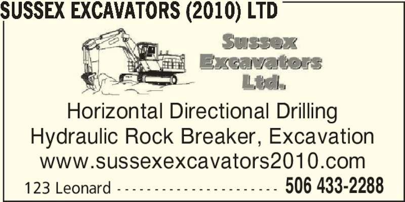 Sussex Excavators (2010) Ltd (5064332288) - Annonce illustrée======= -