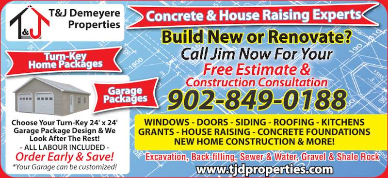 Demeyere t j properties limited dominion ns 81 birch for Garage package edmonton