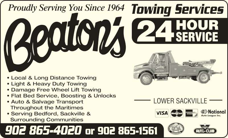 Beaton 39 s towing services lower sackville ns 34 for 24 hour tanning salon near me