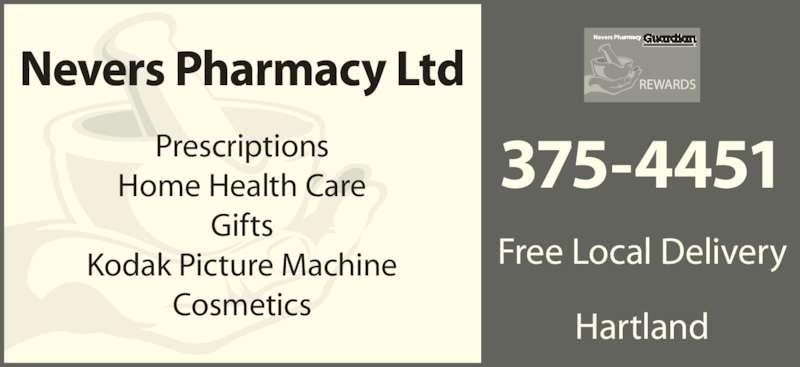 Nevers Pharmacy (506-375-4451) - Display Ad -