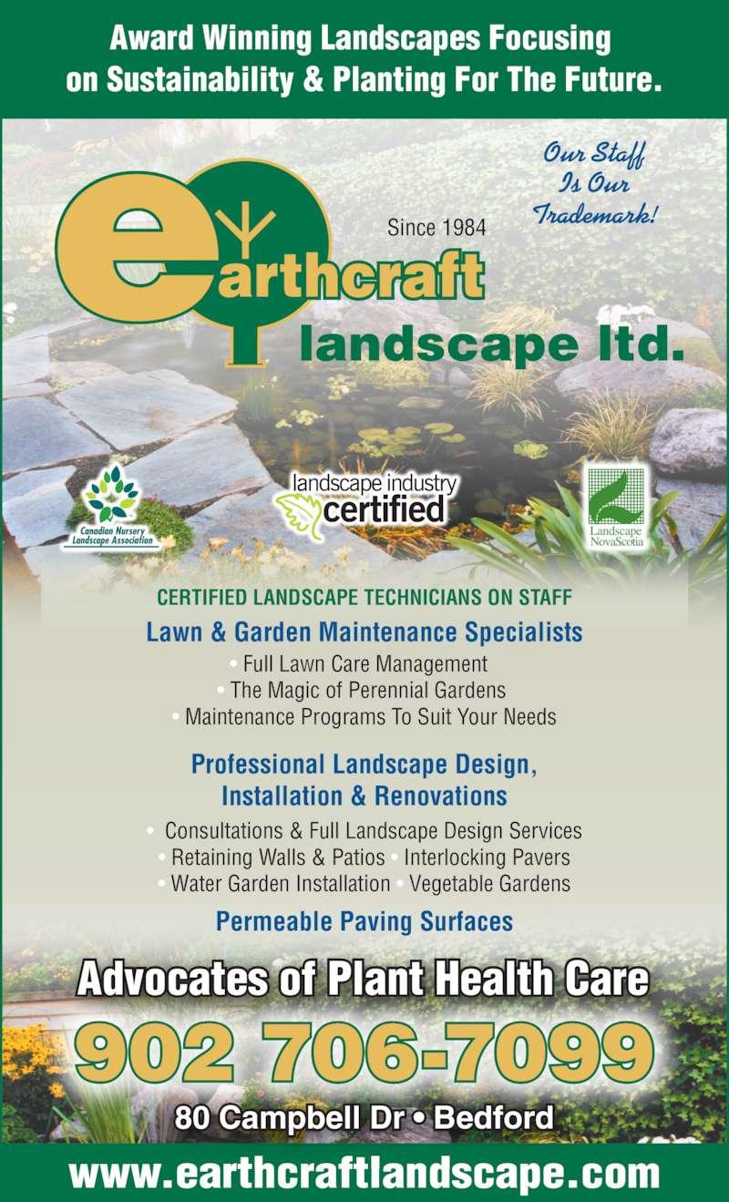 Earthcraft landscape limited bedford ns 80 campbell for Landscape limited