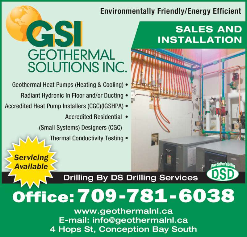 Geothermal Solutions Inc 4 Hops Street Conception Bay