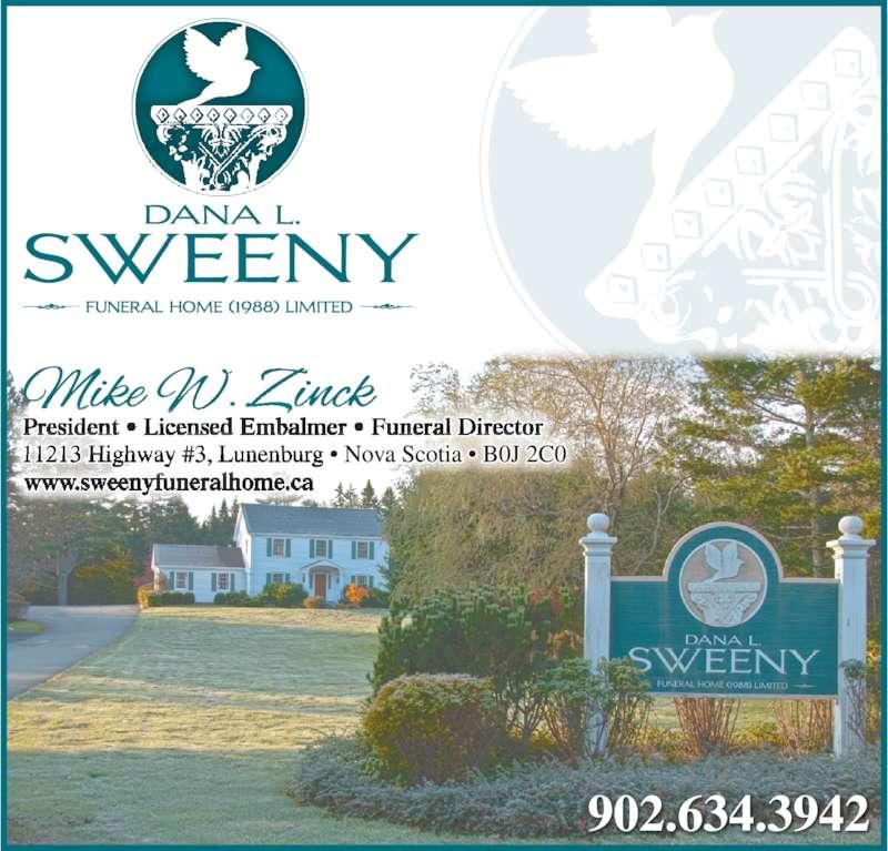 Sweeny Dana L Funeral Home (1988) Ltd (9026343942) - Display Ad -