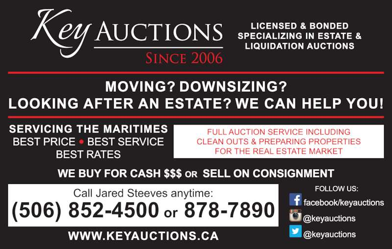 Key Auctions (506-878-7890) - Display Ad -