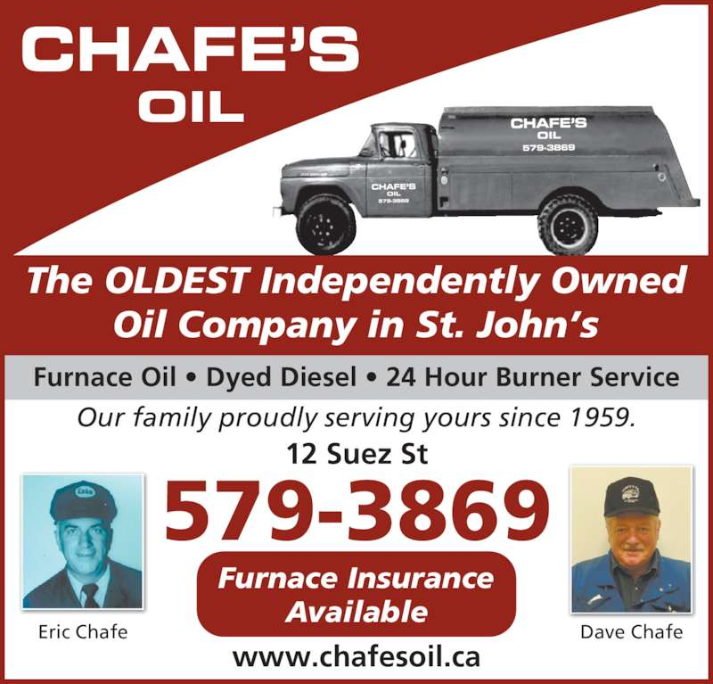 Chafe 39 s oil st john 39 s nl 12 suez st canpages for 24 hour tanning salon near me