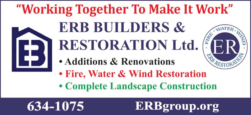 Erb Builders (506-634-1075) - Display Ad -
