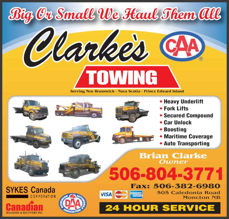 Clarke 39 s towing ltd moncton nb 505 caledonia rd for 24 hour tanning salon near me