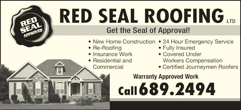 Red Seal Roofing Ltd Opening Hours Nl