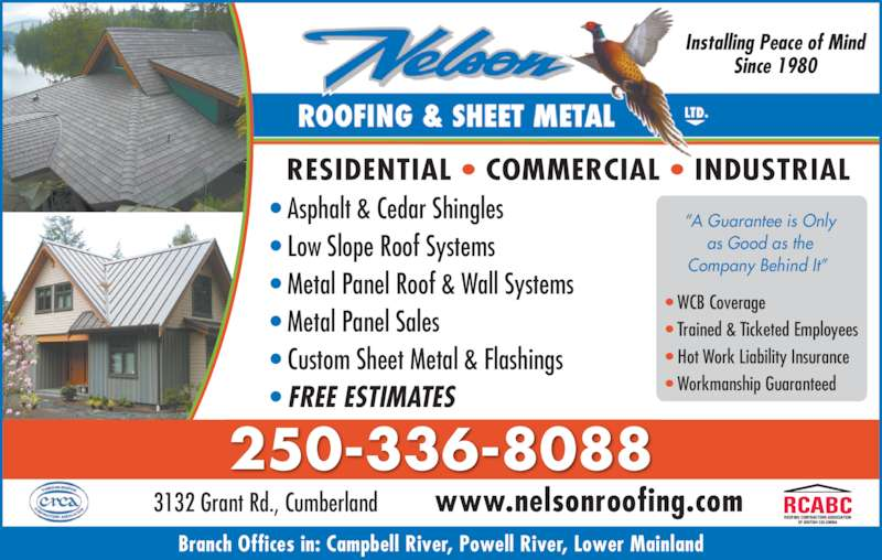 Nelson Roofing Amp Sheet Metal Ltd Opening Hours 3132