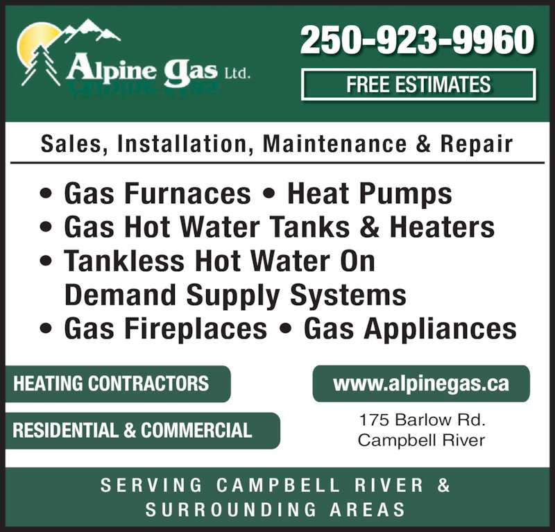 Alpine Gas Campbell River Bc 175 Barlow Rd Canpages