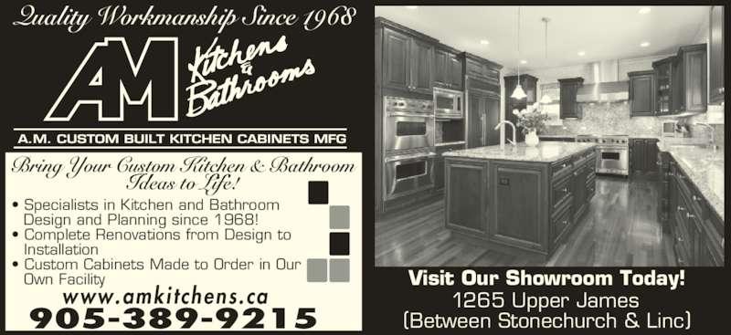 a m custom built kitchen cabinets mfg - hamilton, on - 1265 upper