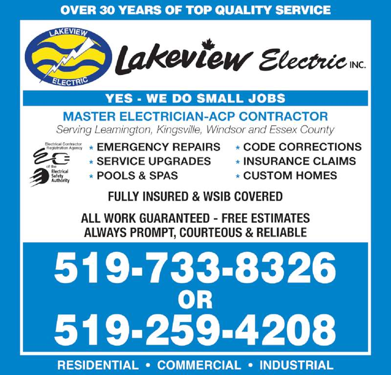 Lakeview Electric Inc Opening Hours 1156 Campbell Lane