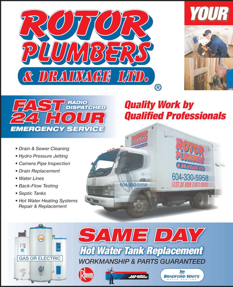 Rotor plumbers drainage ltd richmond bc 2115 21000 for 24 hour tanning salon near me
