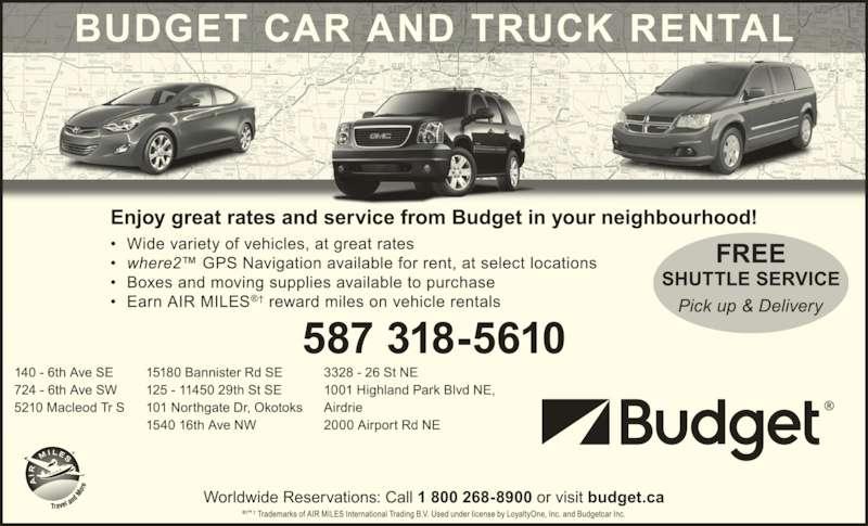 budget car truck rental 2800 barlow trail ne calgary ab. Black Bedroom Furniture Sets. Home Design Ideas