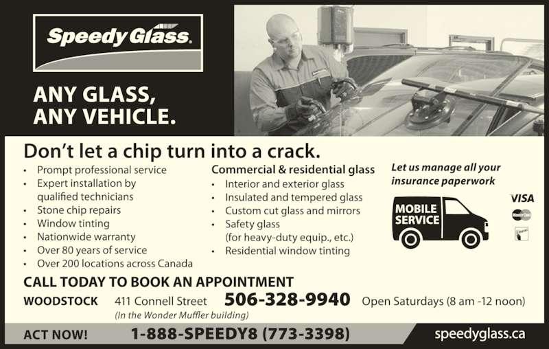 Speedy Glass (506-328-9940) - Display Ad -