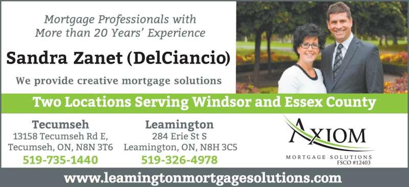 Sandra Delciancio - Axiom Mortgages (519-735-1440) - Display Ad - www.leamingtonmortgagesolutions.com