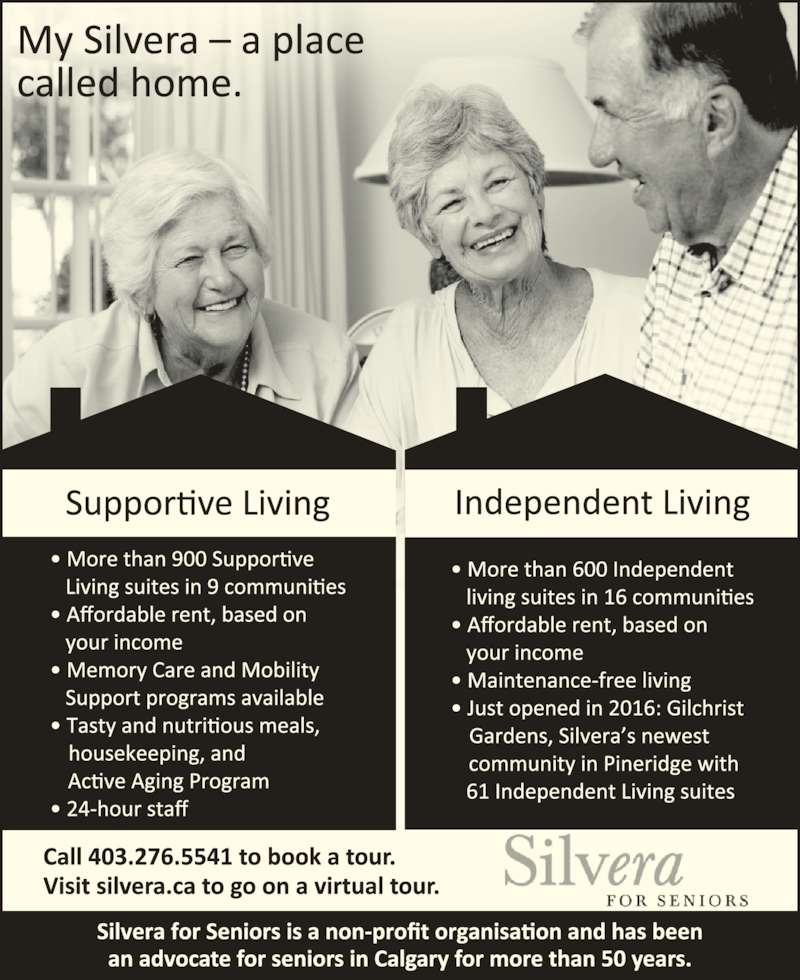 Silvera For Seniors (403-276-5541) - Display Ad -