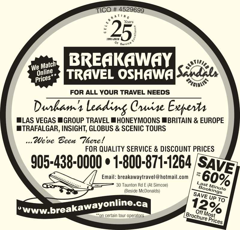 ad Breakaway Travel Inc