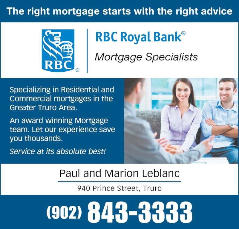 RBC Mortgage Team - Opening Hours - 940 Prince St, Truro, NS