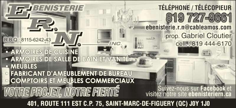 b nisterie rn inc saint marc de figuery qc 401 rte 111 canpages fr. Black Bedroom Furniture Sets. Home Design Ideas
