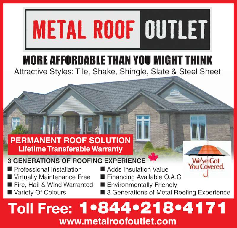 Metal Roof Outlet Inc Courtland On 63 Main St Canpages